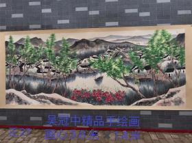 吴冠中精品手绘风景画长卷一幅,乡下老画,买家自鉴。