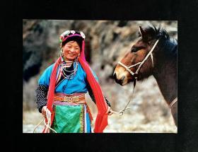 """藏族老照片——《春风》白沙杯首届中国青年""""我心飞翔""""动感摄影大赛参赛作品。"""
