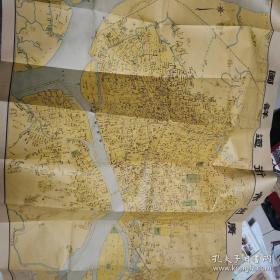 民国广州地图  高清复制版