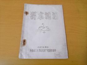 猜谜语灯谜专题:淠水谜话(1)(创刊号)(32开油印本)(吴仁泰题词)