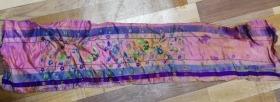 特价处理清末民国蝴蝶花中飞图案的绣品绣片刺绣长条包老