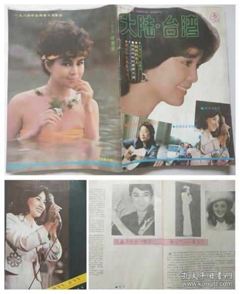 《大陆.台湾》1985年创刊号、封面:邓丽君、封底:杨惠珊、彩页:凤飞飞