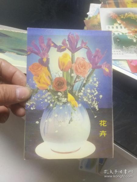 老版明信片散片 花卉