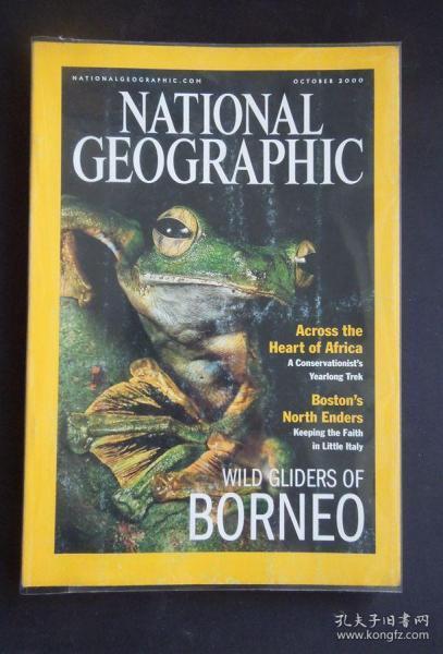 """《NATIONAL GEOGRAPHIC/(美國)國家地理》(2000年10月/封面故事:婆羅洲島的蛙類/詳見""""描述""""及圖片)"""