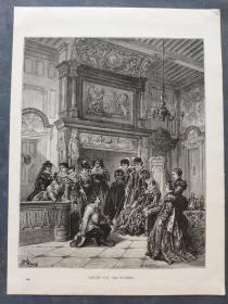 十九世纪 古斯塔夫·多雷 木口木刻 木版画249- 《SANCHO AND THE DUCHESS》190905