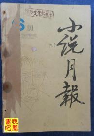 《小說月報》(1991年第6期總第138期 有三個釘洞)