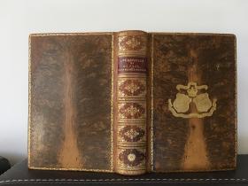 1905年 The Life and Epistles of St. Paul Rev. W. J. Conybeare  抛光全皮烫金 精美藏书票 书口花纹  烫金精美压边 含四幅拉页地图 (后壳下边有5厘米的开裂现象)19*13.5cm