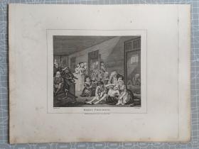 """1812年 """"托马斯·库克版"""" 威廉·荷加斯 铜版画 凹印版画《浪子生涯8》20210227"""