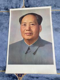 4开宣传画 毛主席标准像 1977年人民美术出版社