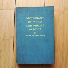 DICTIONARY OF WORD AND PHRASE ORIGINS  英美词源字典