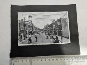 来自侵华日军联队在满洲相册,民国时期  照片式明信片,奉天  街景 类别: 黑白 品相: 八五品