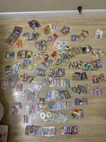 小浣熊水浒卡,三国卡,封神卡,各种食品卡