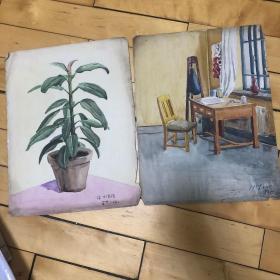 50-60年代 刘长德画作一组60多张合售如图