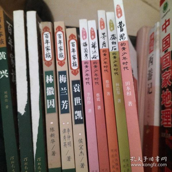 大师的青少年时代丛书:梅兰芳,齐白石,茅盾,郭沫若,曹禺。