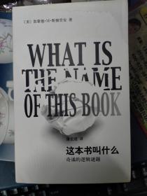 这本书叫什么:奇谲的逻辑谜题 原版书(私藏品佳