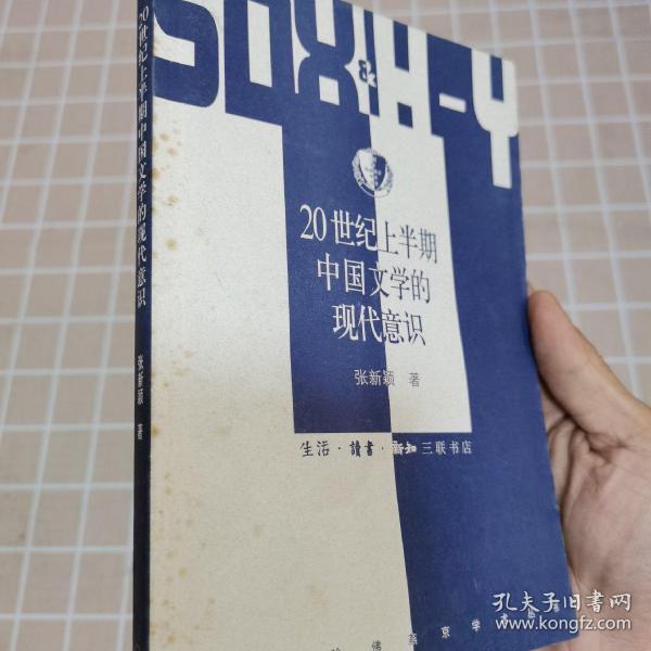20世纪上半期中国文学的现代意识(三联哈佛燕京学术丛书,一版一印)