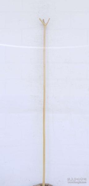 六道降龙木鸟笼挑 画挑 天然骨节  棍体笔直  纹路清晰 长1.4米,大头1.8+1.4厘米