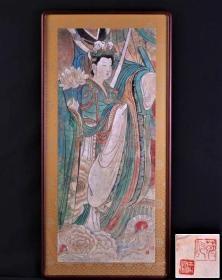 赵玉凤著名画家--赴日参展作品--镜框