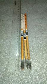 日本老毛笔:百年老铺鸠居堂,高端小笔3支。原价分别日元2000丹以上(下过墨,用过次数不多)