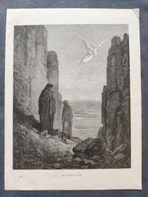 十九世纪 古斯塔夫·多雷 木口木刻 木版画245- 《THE ANGELIC GUIDE》190905