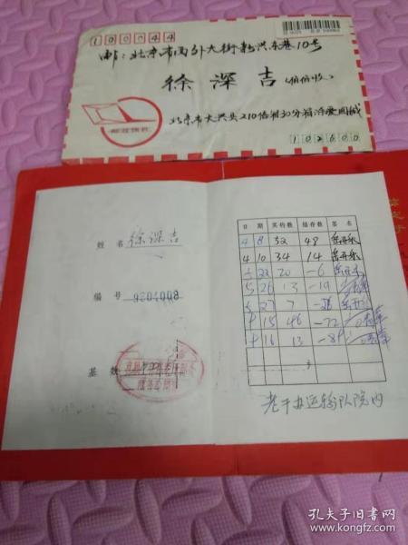北京军区副司令员徐申吉中将垂钓卡