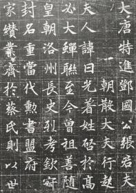 精品唐志——《张暐妻许日光墓志》拓片 该志书法可见盛唐时期书者对《兰亭序》的取法传习