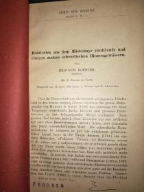 ARKIV  FOR   ZOOLOGI(1909)