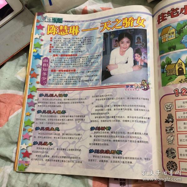 陈慧琳 16开彩页dzk389