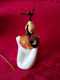 葫芦手工雕刻艺术品保真