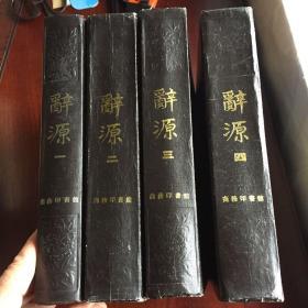 辞源  修订本  全四册