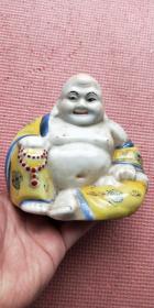 彩釉瓷弥勒佛