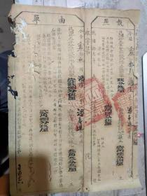 民国拾叁年《执照/单由》今据念叁都叁图潘庄庄业户潘寿进所有产/永嘉县县公署
