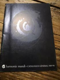 音乐出版目录:《HARMONIA MUNDI.CATALOGUE GENERAL 1989/90》