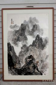 岭南画派的杰出代表人物之一王维宝-大幅精品(发货不带框)