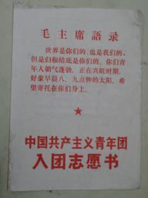 中国共产主义青年团入团志愿书(1975年)