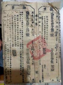 民国玖年《执照/单由》今据念叁都叁图潘庄庄业户潘吉祥所有产/永嘉县县公署