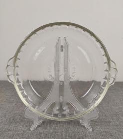 1979年 李-登-辉敬赠 特制纪念玻璃盘,怀旧收藏老物件