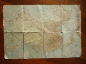 文革时期《中国交通图》(背:中国铁路路线示意图)