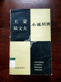 EA6004821 王蒙陆文夫小说欣赏【书内有发黄】