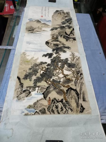 唐寅绒制山水年画。