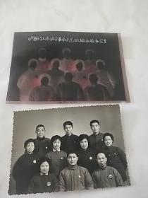 沪(静)《工师班》革命文艺班结业留念71年(有底片,10*7厘米)**