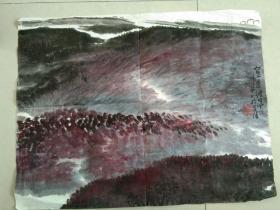 南京著名山水画家 李怀宝 先生  山水画一幅