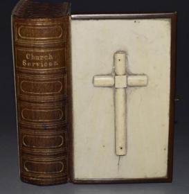 1865年  Works of Alfred Lord Tennyson《丁尼生诗全集》 维多利亚版白色象牙皮特装古董书  小开本 品相佳 美奂美仑 送礼佳品