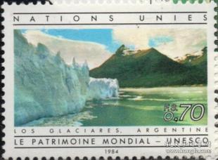 联合国邮票A,日内瓦1984年联合国教科文组织世界遗产, 新、一枚
