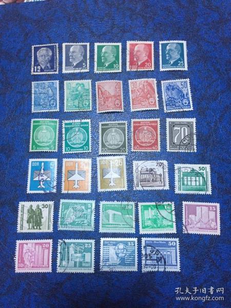 东德信销邮票29枚                                            (50、60年代邮票 无重复 !90年东、西德已经统一所以非常值得收藏) 店铺福利优惠邮票 邮票类多购付一次运费即可,付款前私信后台改价