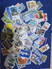 东德(原民主德国)信销邮票100枚                        (60年代到90年邮票无重复 ,90年东、西德已经统一所以非常值得收藏) 店铺福利优惠邮票 邮票类多购付一次运费即可,付款前私信后台改价