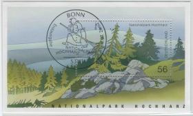 德国邮票 2002年 霍克哈尔茨国家公园法国 小型张盖销
