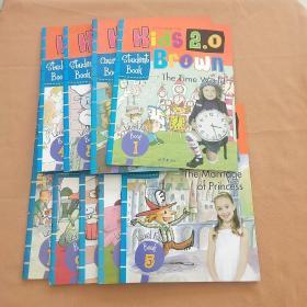 Kids Brown2.0 布朗儿童英语 Level 4级 练习册 第1、2、3、4、5、7、8、9、12册(9本和售)
