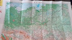 1998年,第2次印制 波兰地图。