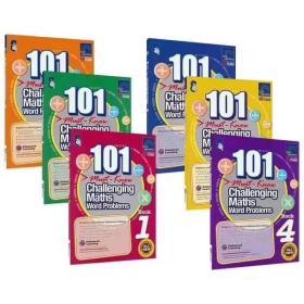 套装书 新加坡数学应用 101-challenging maths word problems 1--6 册 引进新加坡SAP出版社,